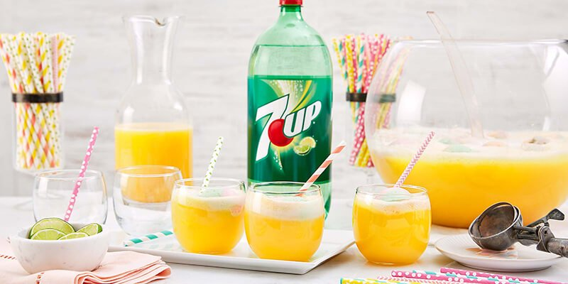 7-Up Sherbet Punch