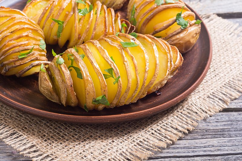 No-Hassle Hasselback Potatoes