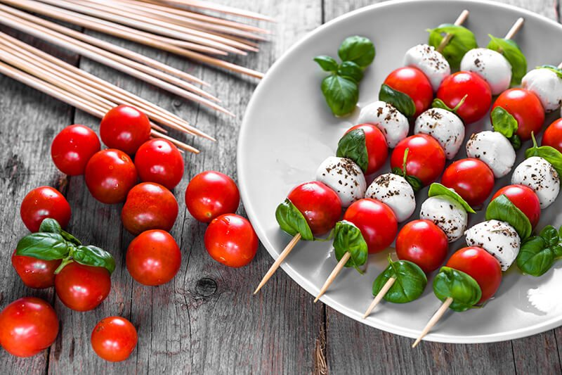 One Bite Salad Appetizers – Caprese