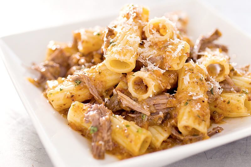 Rigatoni with Beef and Onion Ragu