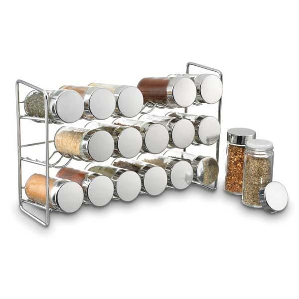 18 Jar Compact Spice Rack