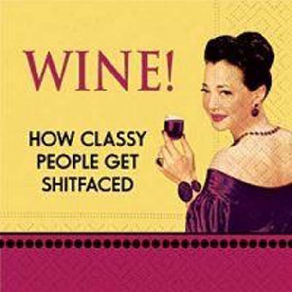 Bar Napkin Wine How Classy