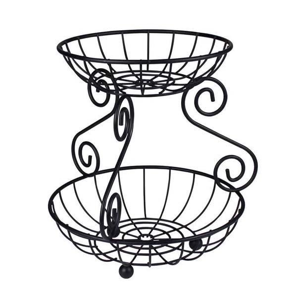 Scroll 2-Tier Fruit Bowl