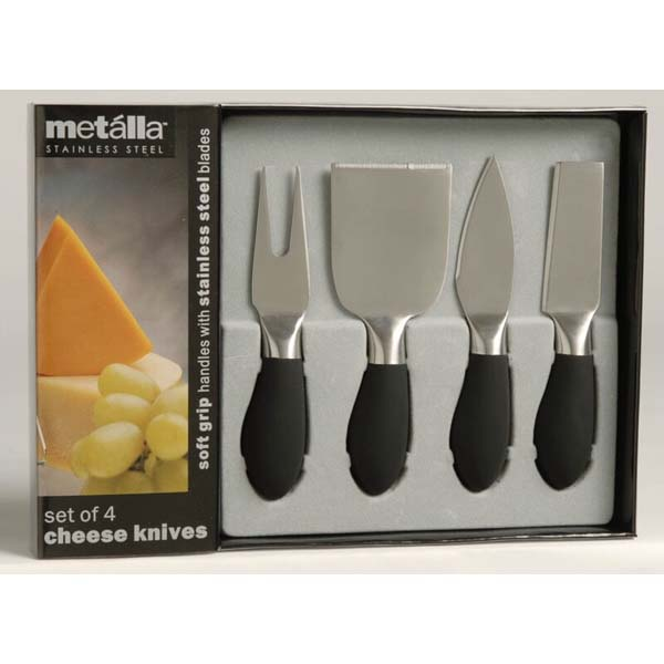 Soft Grip Handle Cheese Knives