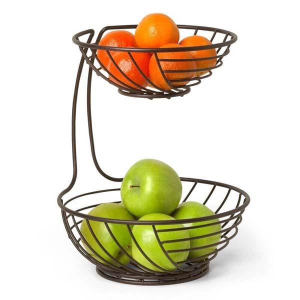Wright 2-Tier Fruit Bowl