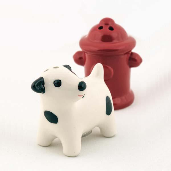 Salt & Pepper Dog & Hydrant