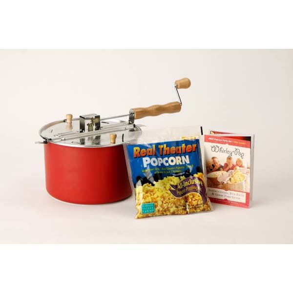 Red Whirley Popcorn Popper