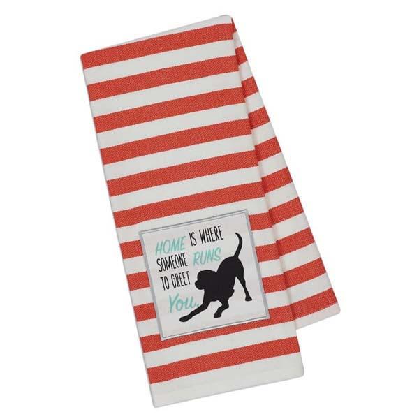 Towel Dog Runs Embellished