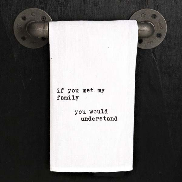 Towel If You Met My Family