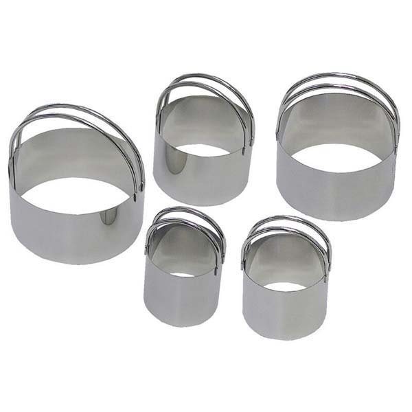 Biscuit Cutters Round w Handle