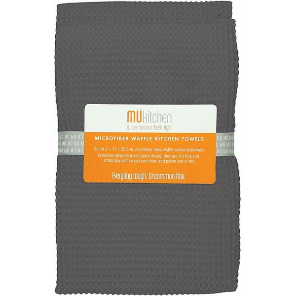 Kitchen Towels Set of 2 Cadet