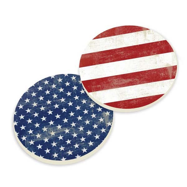 Car Coasters - Vintage Flag