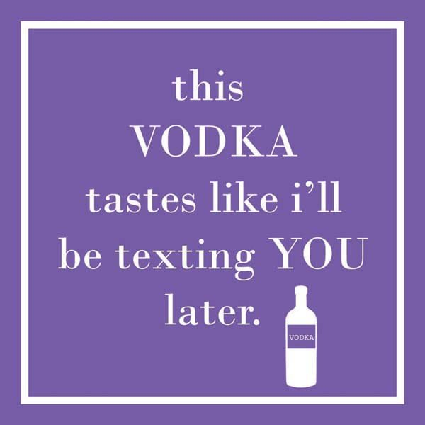 Bar Napkin This Vodka Texting