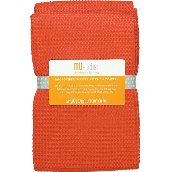 Kitchen Towels Set of 2 Coral