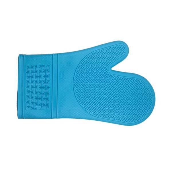 Aqua Silicone Oven Mitt