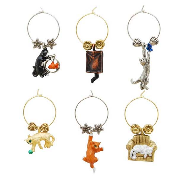 Wine Charms Cats