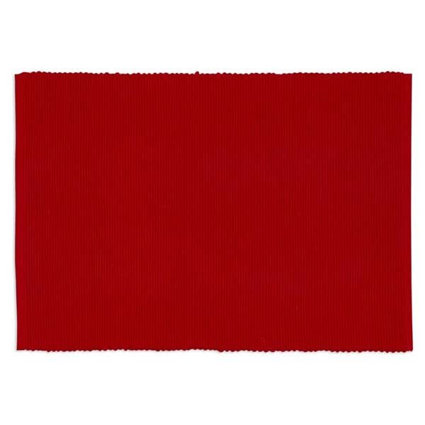 Placemat Tango Red Ribbed