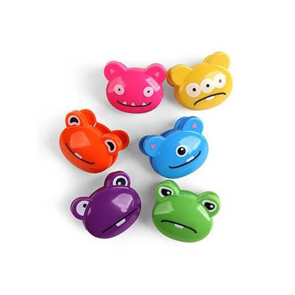 Monsters Bag Clips, Set of 6