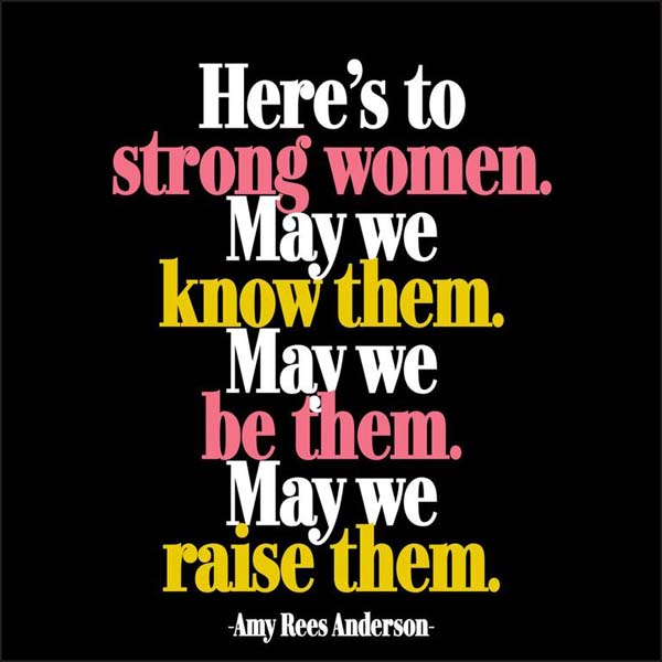 Magnet Here's To Strong Women