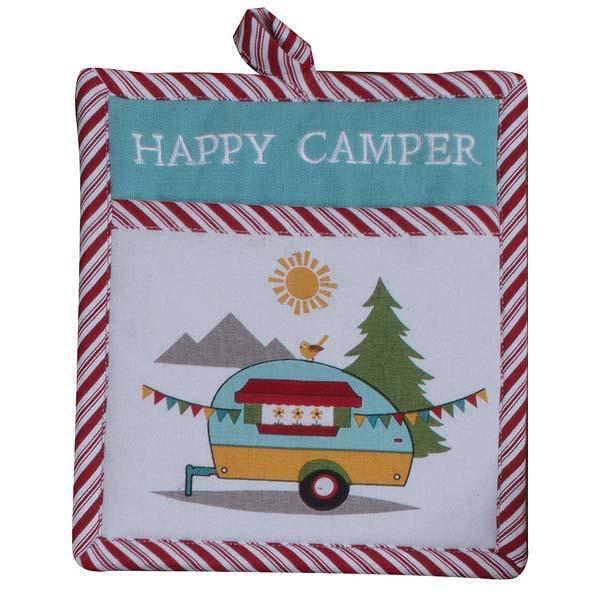 Pot Holder Happy Camper