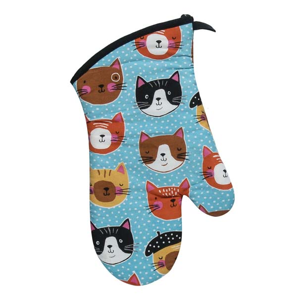 Oven Mitt Crazy Cat