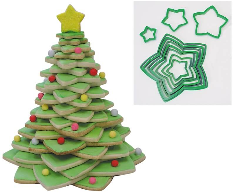 Cookie Cutter Star Tree