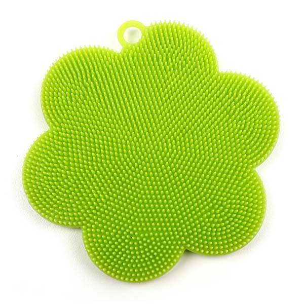 Scrubber Soft Silicone Green
