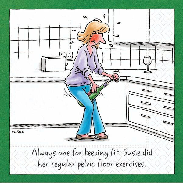 Bar Napkin Keeping Fit