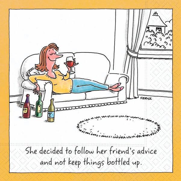 Bar Napkin Keep Things Bottled