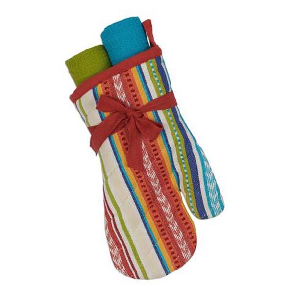 Baja Oven Mitt & 2 Towels