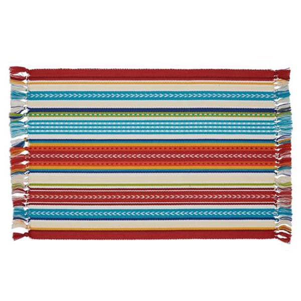 Placemat Baja Stripe Fringed