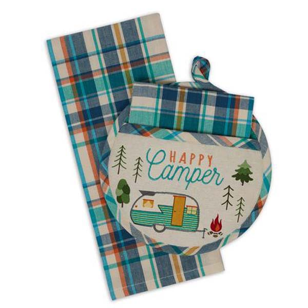 Happy Camp Potholder & Towel