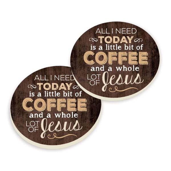 Car Coasters - Jesus Coffee