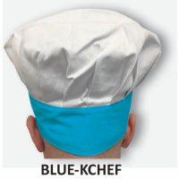 Kid's Chef Hat Blue Trim