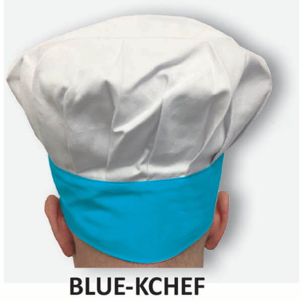 Kid's Chef Hat Blue Trim