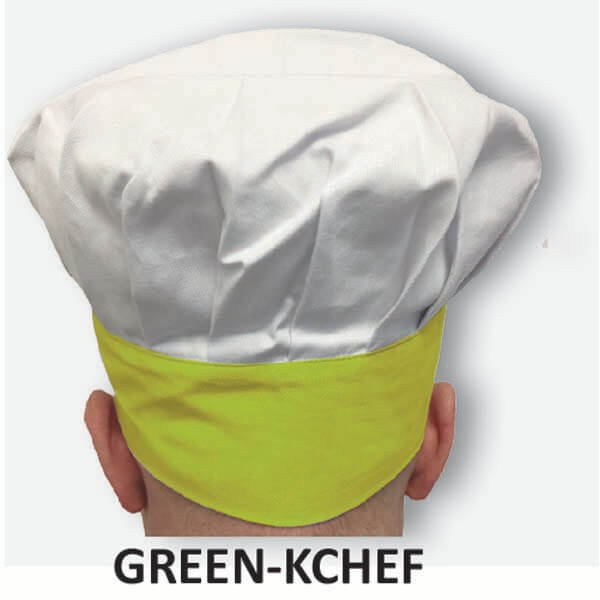 Kid's Chef Hat Green Trim
