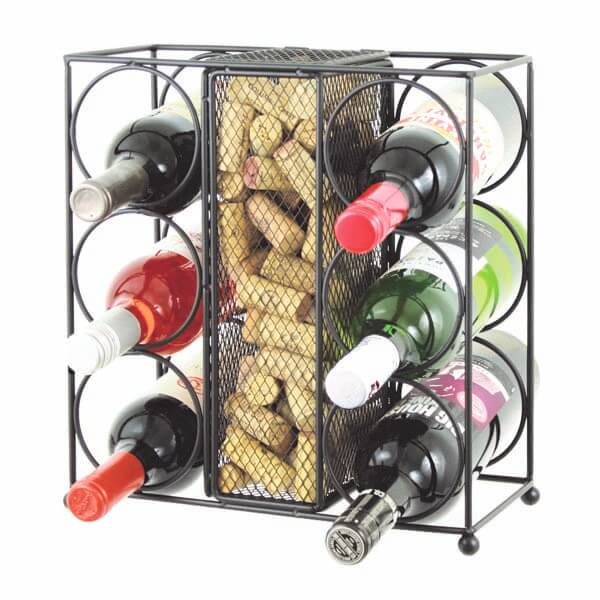 Wine Rack with Cork Holder
