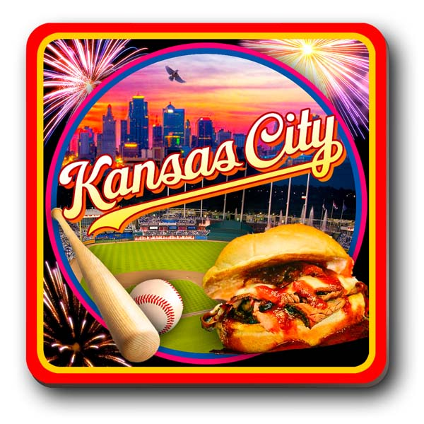Coaster Magnet Kansas City