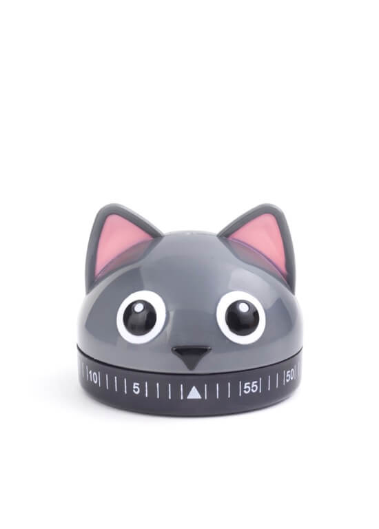 Cat 60 Minute Kitchen Timer