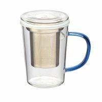 Tea Infuser Mug wBlue Handle