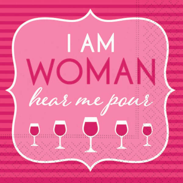 I am Woman Bar Napkin