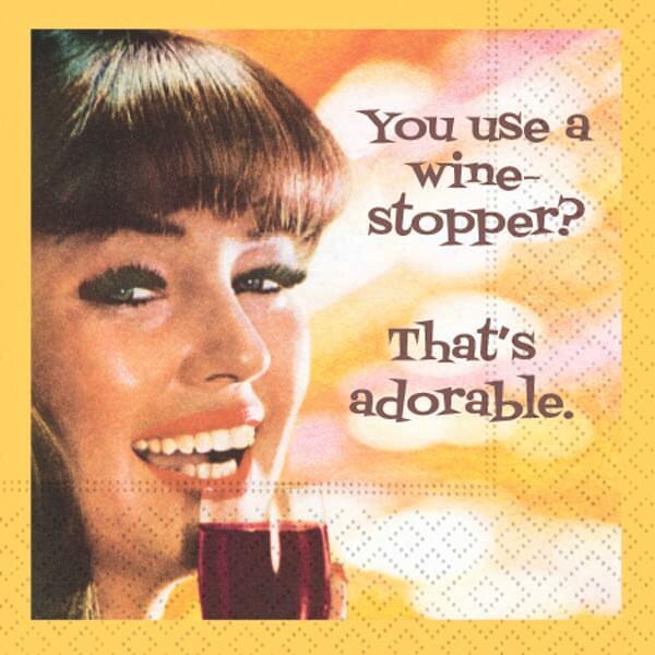 Use Wine Stopper Bar Napkin