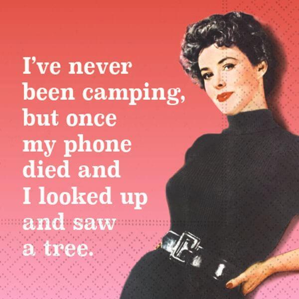 Never Been Camping Bar Napkins