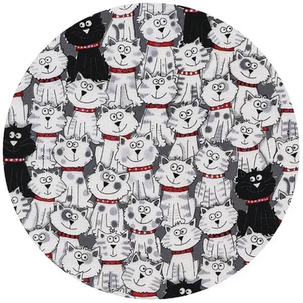 Cats Black White Jar Opener