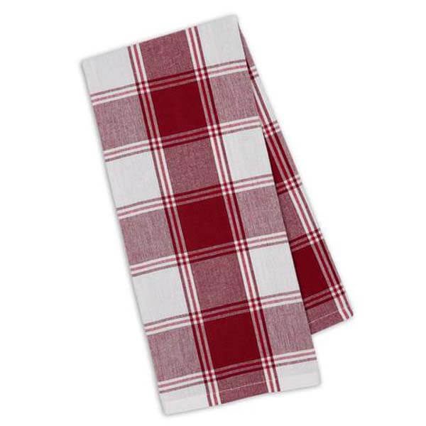 Garnet Picnic Plaid Towel