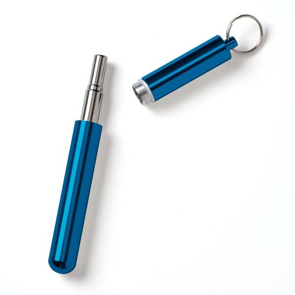 Telescope Straw & Cleaner Blue