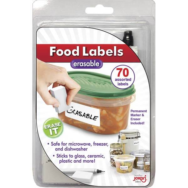 Eraseable Food Labels