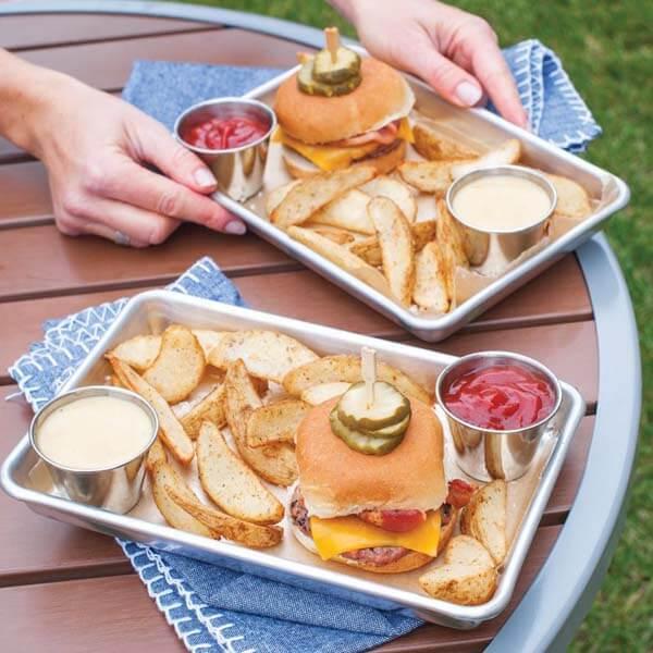 Burger Serving Trays Set of 2